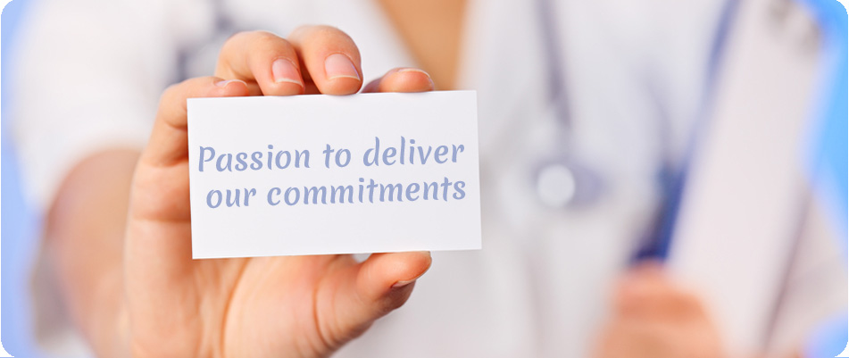 Passion to deliver our commitments